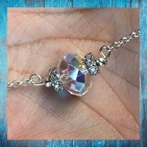 Genuine swarovski crystal and cz chocker necklace